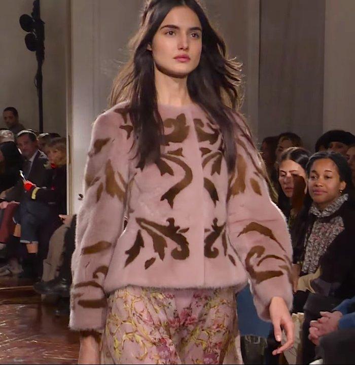 Alberta Ferretti faux fur jacket
