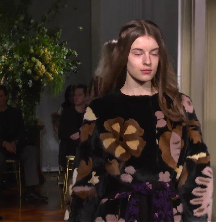 Alberta Ferretti textured faux fur