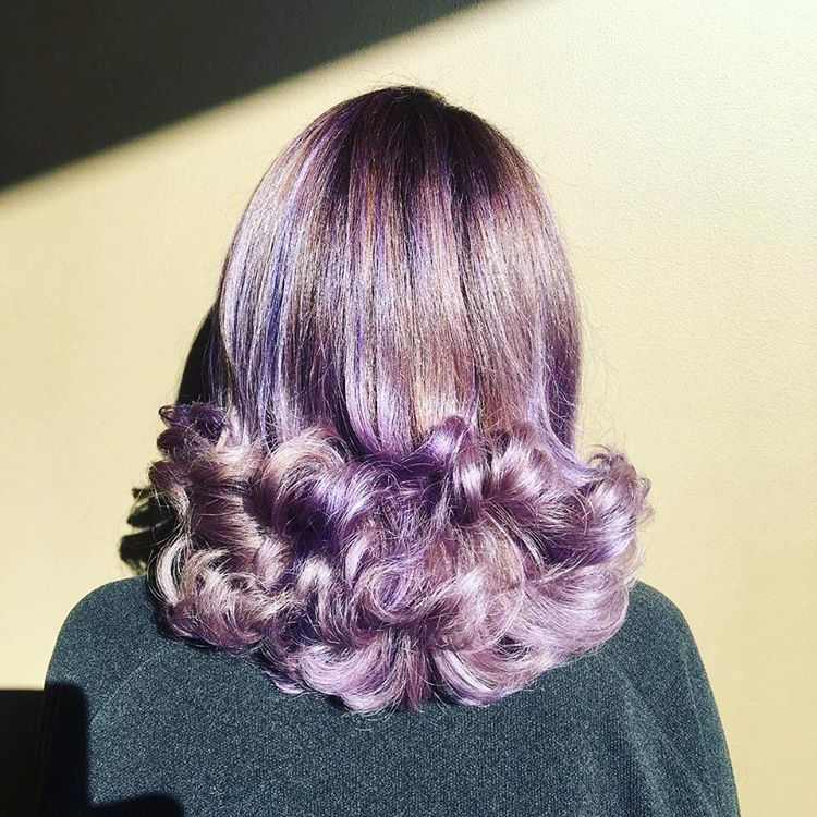 lavender hairstyle