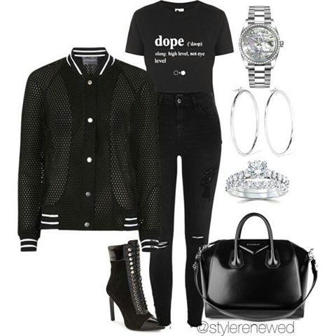 Black pants and jacket
