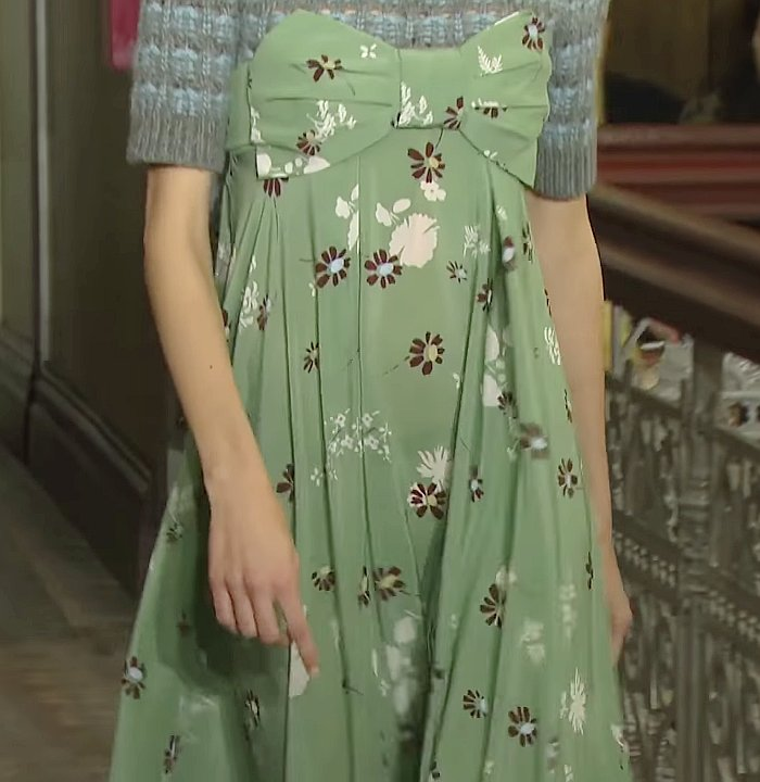Valentino green pattern