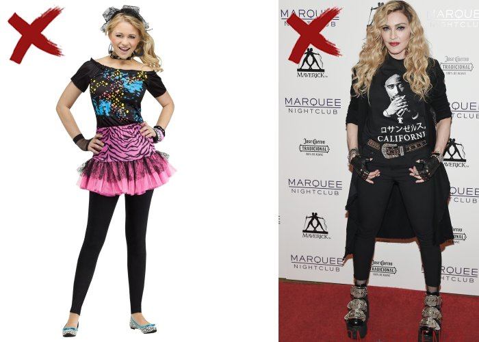 Madonna Teenage Fashion Mistakes